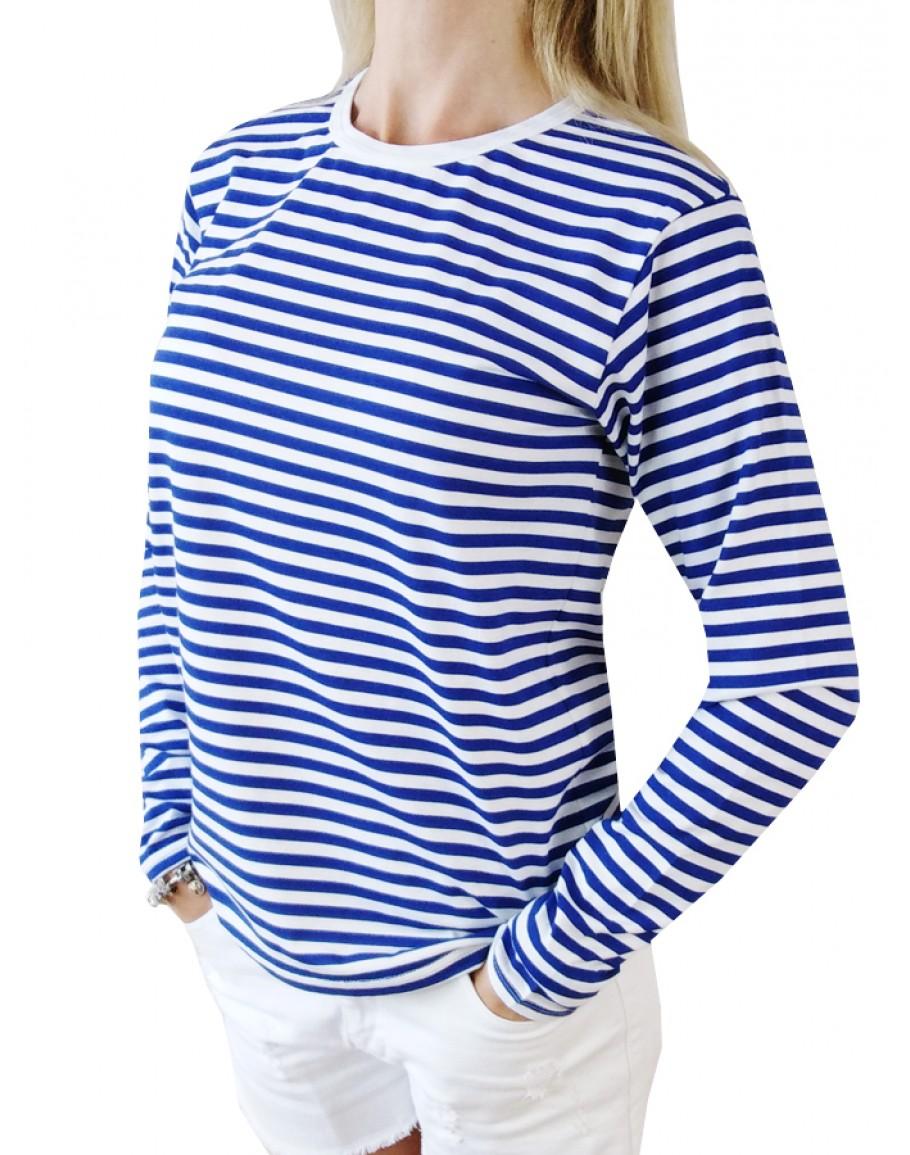 Дамска Моряшка тениска с Дълъг ръкав