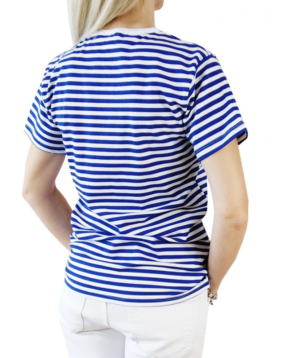 Дамска Моряшка тениска с къс ръкав
