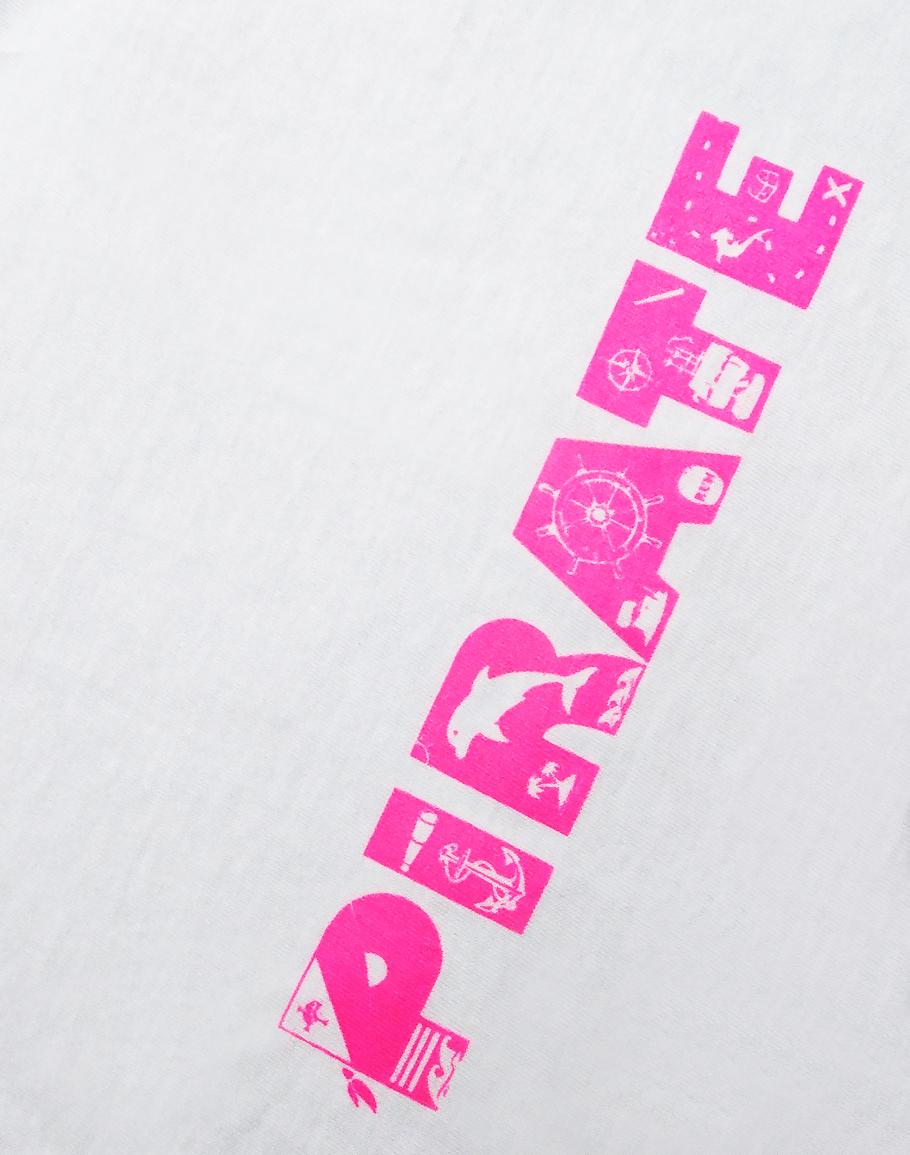 Детска Пиратска кърпа - PIRATE в Розово