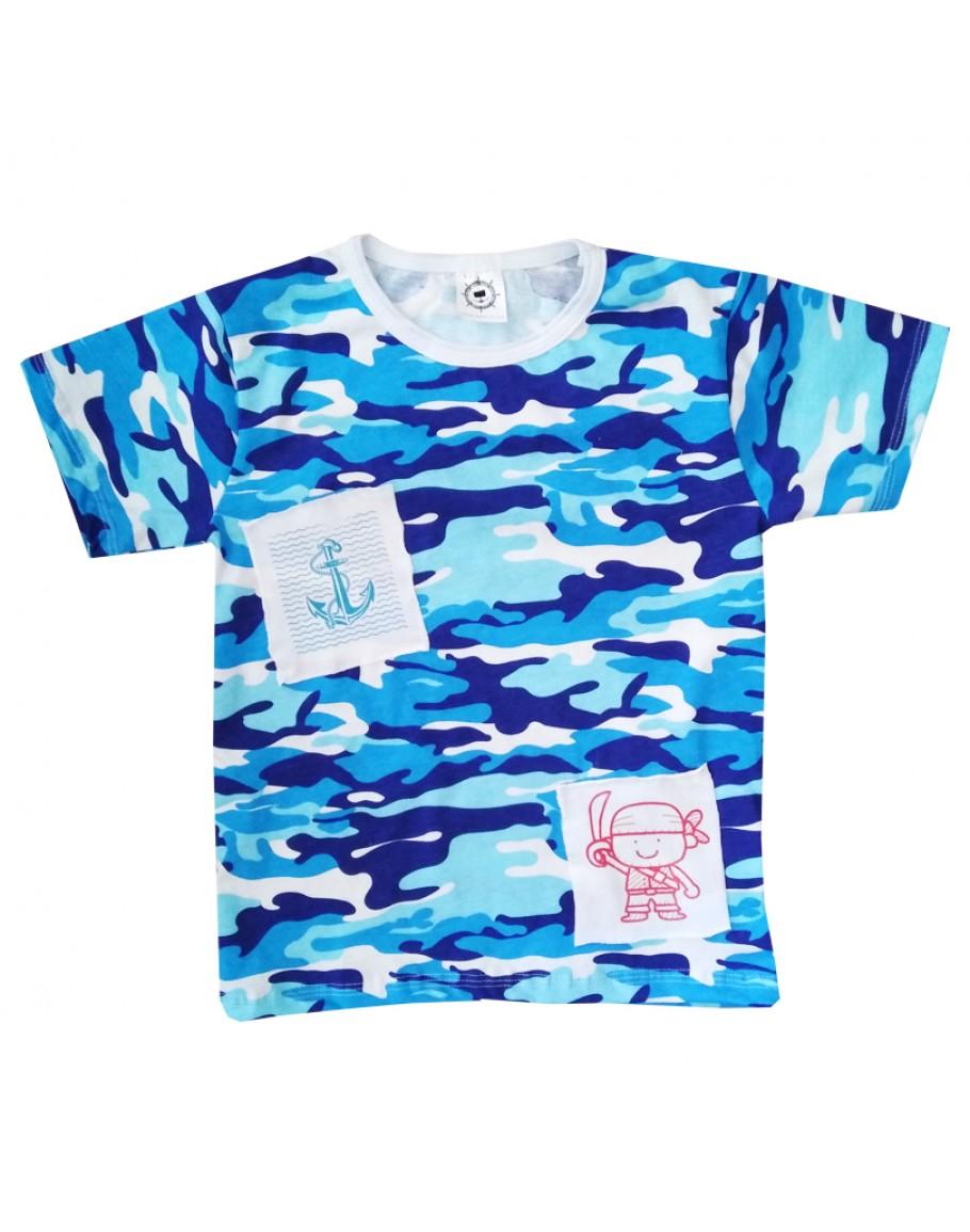 Детска камо тениска с къс ръкав