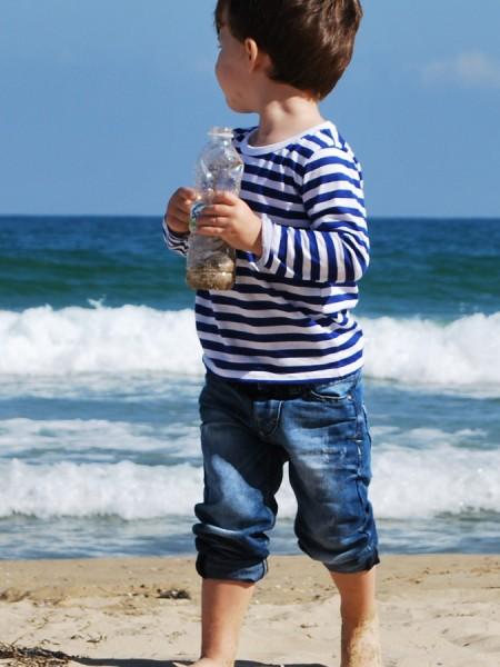 Детска моряшка блуза - дълъг ръкав