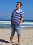 Детска моряшка тениска с къс ръкав