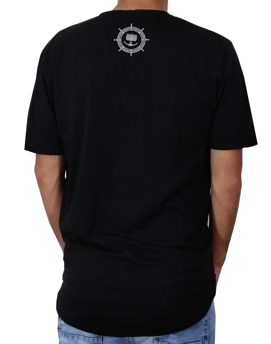 Черна тениска с Лодка - Long